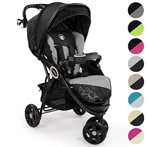 Froggy® Kinderbuggy DINGO Kinderwagen Buggy Jogger ultraleicht 5-Punkt-Sicherheitsgurt kompakt zusammenklappbar Liegefunktion Sonnenverdeck SPACEGRAY