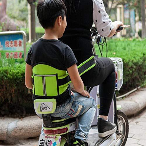 PYY Kind Sicherheitsgurt Motorrad Kind Baby Elektroauto Schutzgurt Sicherheitsgurt Drop Belt Sicherheitsgurt Fahrrad Sicherheitsgurt Reiten Gürtel,Green