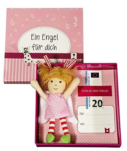 Stoffengel-Anhänger in Geschenkbox: rot