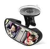 Apunol Specchietto Retrovisore Bambini Ventosa, Specchio Auto Bambino per Sedile Posteriore Infrangibile Sicurezza Specchio Auto per Bimbi Neonato Poggiatesta