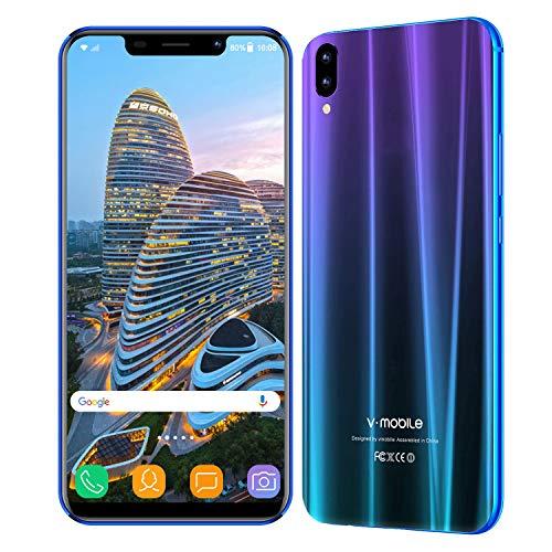 """Cellulari Offerte v·mobile XS pro (Display 5,85"""" HD Dual SIM 3800mAh 3GB+32GB Fotocamera 13MP Cellulari Economici Quad Core Android 7,0 Face ID/GPS 3G+ Smartphone Economici in Offerta (Aurora blu)"""