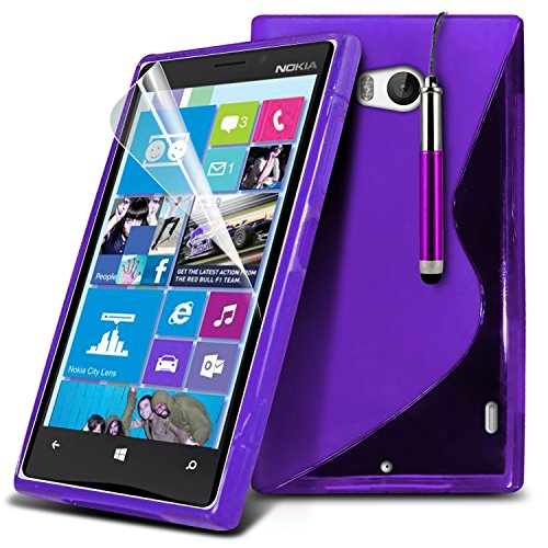 ( Blue ) Nokia Lumia 930 Tough Survivor Fest Rugged Shock Proof Heavy Duty Case W / Back-Stand, LCD-Display Schutzfolie, Poliertuch und Mini-versenkbaren Stift durch Spyrox S Line (lila)