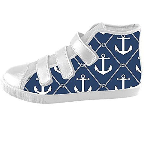 Dalliy Blue ocean Anchor Kids High-top Canvas Shoes Footwear Sneakers Shoes