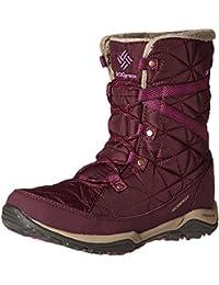 Unknown - botas de nieve de material sintético mujer, color púrpura, talla 41.5