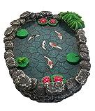 Mini bassin Koï - un mini bassin à carpes Koï pour votre Jardin Féérique - un accessoire pour votre Jardin Enchanté par GlitZGlam
