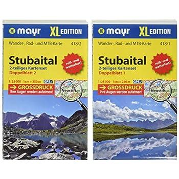 Stubaital Xl 1 : 25 000: Wander-, Rad- Und Mountainbikekarte. Gps-Genau