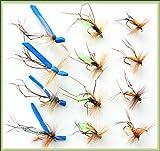 ARC Fishing Flies Forellenfliegen, Daddy, Lange Beine, Hopper, Hakengröße 12, X 12 Fliegen, Set Daddies B.T, G.H, O