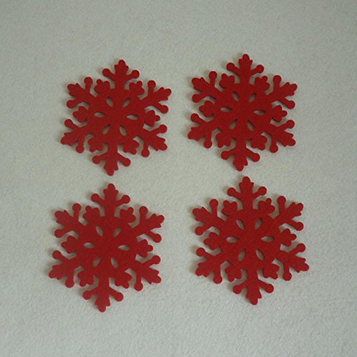 Set of 4pcs Christmas Snowflake Shaped Coaster Mat Anti-Skid Pad Table Placemat Dinner Decor