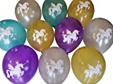 Unicorn Balloons - Gold, Silver, Teal, Purple - 25 Pack