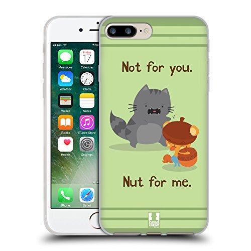 Head Case Designs Gatto Nero E Rosa Gatti A Pois Cover Morbida In Gel Per Apple iPhone 7 Plus / 8 Plus Amici