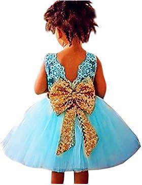 WanYang Vestidos De Princesa Para Bebé Niña Boda Bautizo Fiesta Arco De Lentejuelas Fiestas Boda Para Niños
