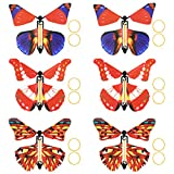 YeahiBaby Papillon Magique Volant dans Le Livre Fairy Rubber Band Powered Toy Wind Up Butterfly Grand Cadeau Surprise 12 pièces (Couleur aléatoire)