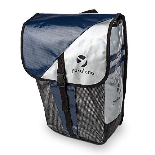 Yukatana Gepäckträger-Tasche Doppel Einzel Fahrradtasche rot-schwarz 2x 9 Liter