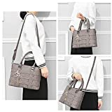 Tibes Shoulder Handbag Totes Bag Clutches Bags Handle Bags Satchels Bags Purse Messenger Bag Women Grey