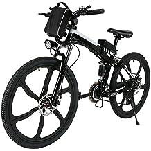 Befied 26inch Vélo de Montagne Électrique 7 Vitesse E-Bike VTT en Alliage d'aluminium Cadre Pliant Chargé 150kg, 36V 250W Moteur, Chargeur Premium Suspendu, Batterie Lithium-ion