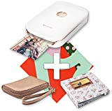 HP Sprocket Photo Printer Limited Edition, White and Rose Gold Gift Set