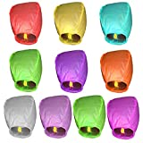10pcs Chinese Lanterns Wishing Lamp Round Paper Flying Sky Lanterns wedding bachelorette Hen party decoration supplies