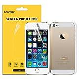 Dettagli prodotto: Ganvol Pellicola Fronte e Retro Protettiva per Apple iPhone 5 5S. Protegge dai graffi e non lascia segni se rimossa. Facile da applicare e rimuovere. Nessun taglio richiest...