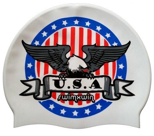 Silikonkappe American Eagle   Schwimmkappe  Hoher Komfort und Sichtbarkeit   Italienischer Stil und...