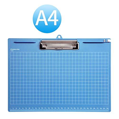 Innere Ecke Der Schiene (Ordner A4 Ordner Schreibtafel Clip Schreibblock Menü Holzbrett Clip Kunststoff Transparent Bürobedarf Schiene Datenrahmen (Color : Blue, Größe : 24.1 * 31.6cm))