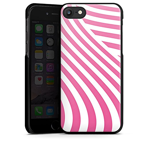 Apple iPhone X Silikon Hülle Case Schutzhülle streifen gestreift Hard Case schwarz
