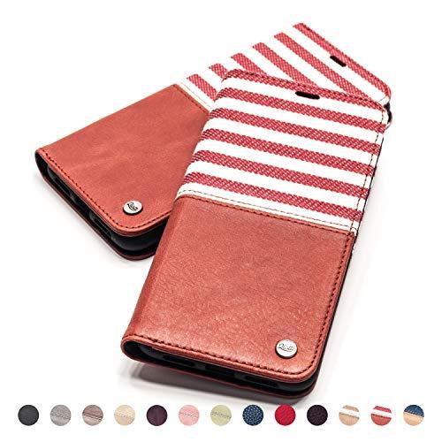 QIOTTI Hülle Kompatibel mit iPhone 6s Plus I iPhone 6 Plus Ledertasche aus Hochwertigem Leder RFID NFC Schutz mit Kartenfach Standfunktion in Rot - 6 Telefonieren Iphone Plus