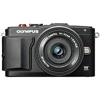 Olympus E-PL6 Interchangeable Lens Camera (Pancake Lens)- Black
