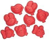 Tefal j409s814Proflex Kit 8Formen Gebäck Form Tiere 3D Rot