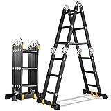 Escaleras telescópicas ZX Aluminio Multiusos Escalera Combinada Plegable para...