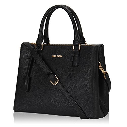 veevan-saffiano-pattern-synthetic-leather-womens-totes-shoulder-handbags-black