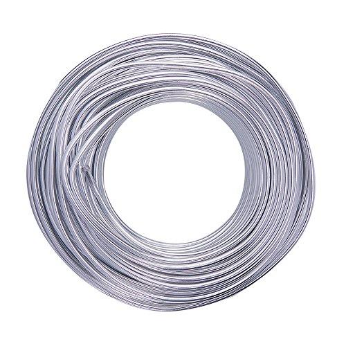 NBEADS 1 Rolle Aluminium Craft Draht Silber für Schmuck machen DIY Handbuch Kunst und Handwerk - 3 x 25 m (Durchmesser x Länge)