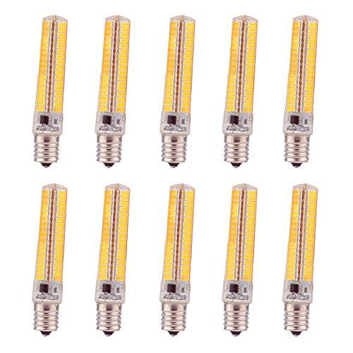 120v Glühbirne Lampe (TONGDAUR E14 Sockel 136 LED Glühbirne Lampe 7 Watt AC110-120V Dimmbare gleichwertige Glühlampe 360   ° Abstrahlwinkel LED Maisbirnen (10 Stück) (Größe : Warmweiß))