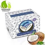 Vegane Abschminktücher Mit 100% Kokosöl - Natürliche Gesichtsreinigungstücher Für Sensible Haut - Gegen Pickel & Mitesser - Make Up Entferner (Auch Wasserfestes) - Nachtpflege - MADE IN GERMANY