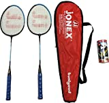 #3: Jonex PLAY BUNIYAD BADMINTON RACKET SET ( 2 RACKETS AND 3 SHUTTLECOCKS) Badminton Kit