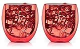 Set di Rosso vetri a doppia parete con effetto termico, mantiene warem bevande più a lungo caldo e freddo bevande più a, Thermo Bicchieri, Tè, Caffè Bicchieri, Tazze da Caffè, adatto al forno a microonde, lavabile in lavastoviglie–bedida by Feelino