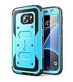 i-Blason Samsung Galaxy S7 Hülle Armorbox Case Outdoor Handyhülle Stoßfest Schutzhülle Cover mit integriertem Displayschutz und Gürtelclip, Blau