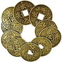 ttoyouu 10pcs prosperidad protección Feng Shui monedas, grande seguro y Lucky Charm Ancient I CHING coins-christmas regalo
