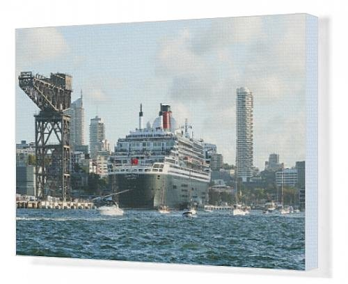 canvas-print-of-queen-mary-2-at-garden-island-sydney