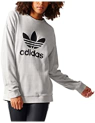 adidas Trefoil Sweater Sudadera, Mujer, Gris (Medgre), 40
