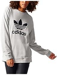adidas Trefoil Sweater Sudadera, Mujer, Gris (Medgre), 40