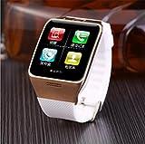 WILK-A Orologio Smart Watch per adulti Bluetooth Smart Watch bidirezionale Dual Frequency Radio Video Function Watch , white