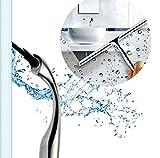 Edelstahl Abzieher für Dusche Fenster Auto Glas mit Saugnapf Haken Wasserdampf Entfernung