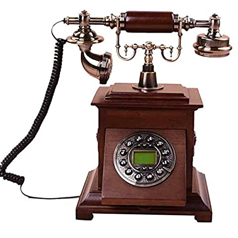 Hirtenheim mit Massivholz Retro Telefon ( größe : Luminous )