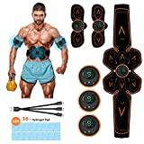 ceinture tonique abdominale - Perte de poids rapide, ceinture d'entraînement musculaire pour les femmes et les hommes, ceinture / bras / jambes / Abs tonificateur de muscles avec 16PCS Abs Gel Tampons