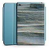 Apple iPad Mini 4 Smart Case hellblau Hülle Tasche mit Ständer Smart Cover Grauer Sandstein Fels Stein