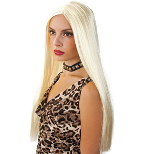 Perücke Vamp blond HALLOWEEN Haarlänge: ca. 55 cm Horror Perücke Hexe Zombie Dracula Erwachsene Unisex Fasching Karneval