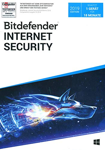 Bitdefender Internet Security Edition 2019 - 1 Gerät / 18 Monate (PC+Mac+Android+iOS) (Download-Code)