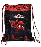Ultimate Spider-Man - Sportbeutel - Turnbeutel - Schuhbeutel - wasserabweisend abwischbar für Kinder / Schulbeutel Kindergarten Jungen Spiderman Gymnastikbeutel Sporttasche - Amazing
