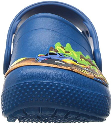 Crocs Fun Lab Clog K Mnsttrk/Ulmr, Sabots Mixte Enfant Multicolore (Monster Truck/Ultramarine)