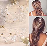 Jovono Diademas de novia pelo joyas accesorios de pelo boda diadema para mujeres (80 cm)